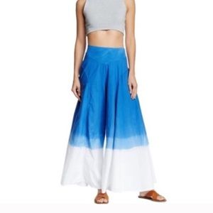 NWT Blue White Extra Wide Leg Pants